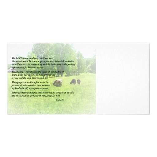 Psalm 23 The Lord Is My Shepherd Photo Card Template