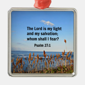 Psalm 27:1 christmas ornament