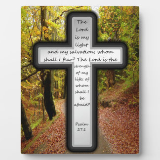 Psalm 27:1 display plaques