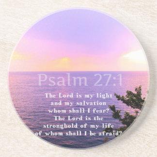 Psalm 27 1 INSPIRATIONAL BIBLE VERSE Coaster