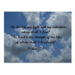 Psalm 27:1 postcard