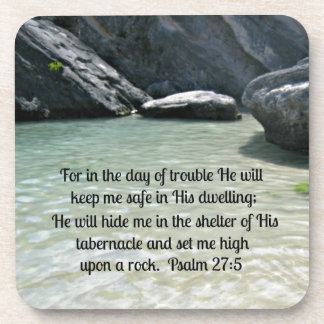 Psalm 27:5 drink coaster