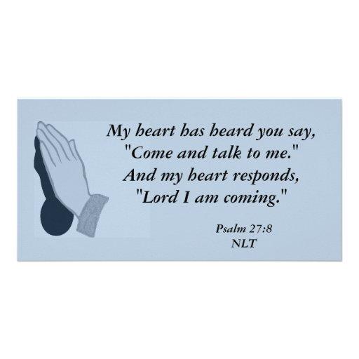 Psalm 27:8 Photo Card