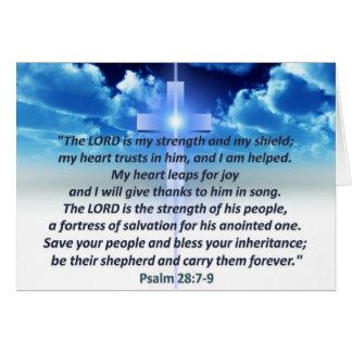 Psalm 28:7-9 cards