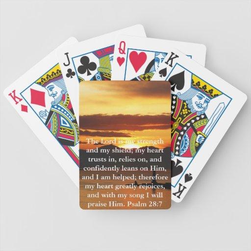 Psalm 28:7  beautiful Bible passage Bicycle Poker Deck