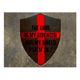 Psalm 28:7 Lord is My Strength & Shield Postcard
