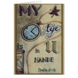 Psalm 31:15 card