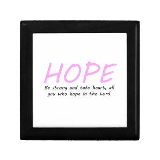 Psalm 31:24 small square gift box