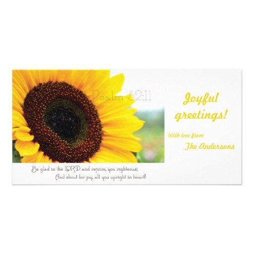 Psalm 32:11 Scripture photocard Customized Photo Card