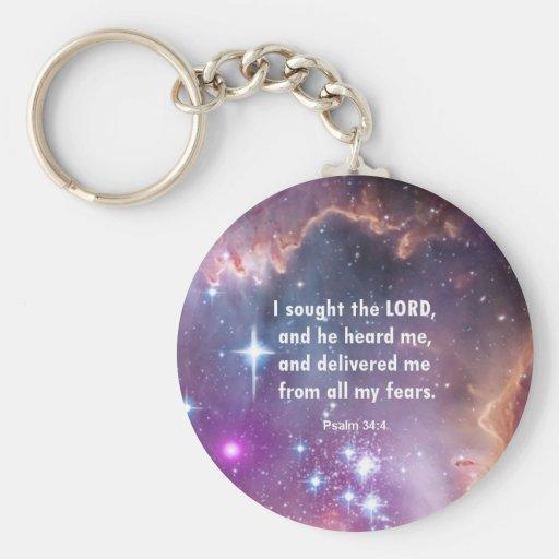 Psalm 34:4 keychains