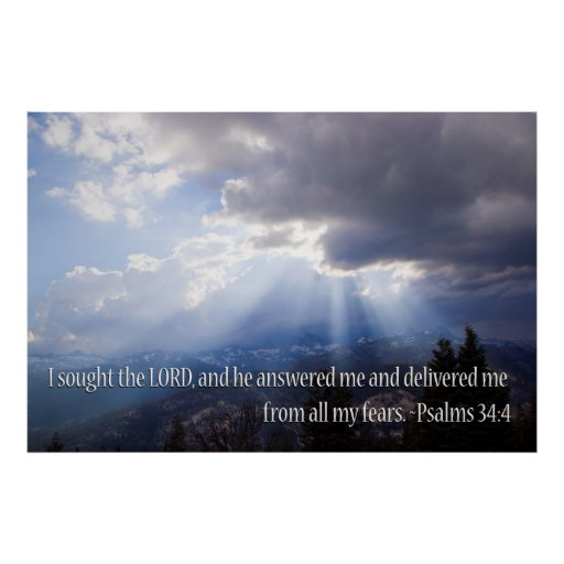Psalm 34:4 poster