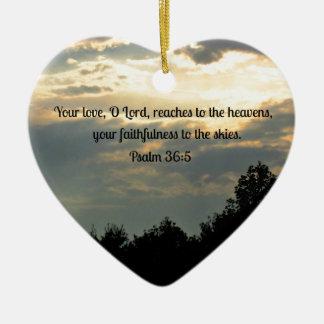 Psalm 36:5 christmas ornament