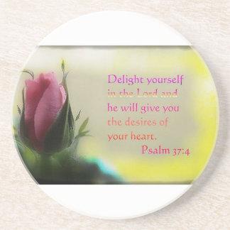 Psalm 37:4 beverage coaster