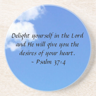 Psalm 37:4 drink coasters
