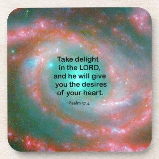 Psalm 37:4 coasters