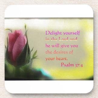 Psalm 37:4 coaster
