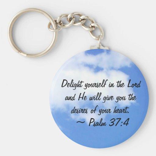 Psalm 37:4 key chain