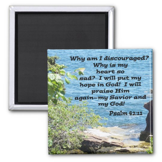 Psalm 42:11 square magnet
