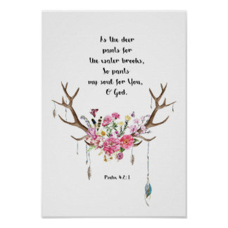Psalm 42:1 poster