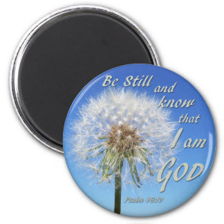 Psalm 46:10 - Be Still and Know 6 Cm Round Magnet