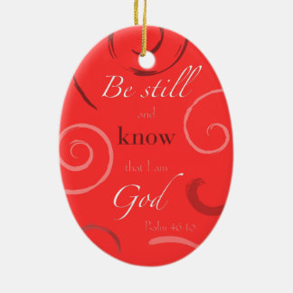 Psalm 46:10 Choose your own color! Customizable Christmas Ornament