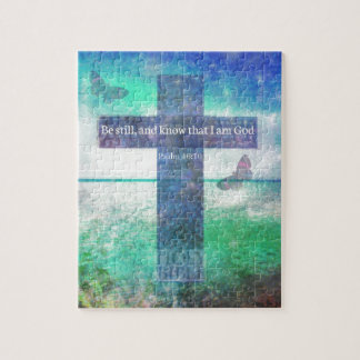 Psalm 46:10  Encouraging Bible Verse Puzzle