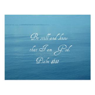 Psalm 46:10 postcard