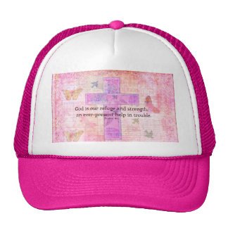 Psalm 46:1-3 Encouraging Bible Verse Cap