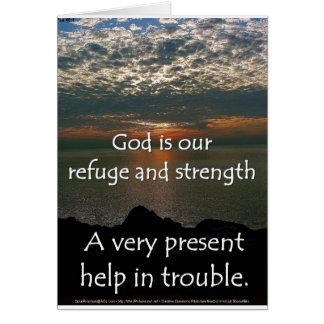 Psalm 46:1 - Beautiful Sunrise over Lake Michigan Card