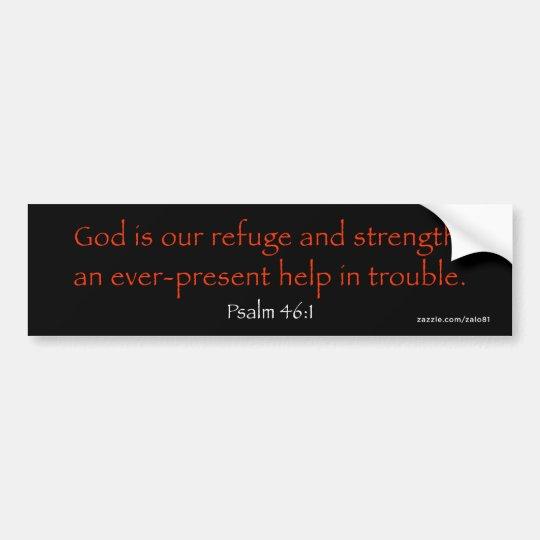 Psalm 46:1 bumper sticker
