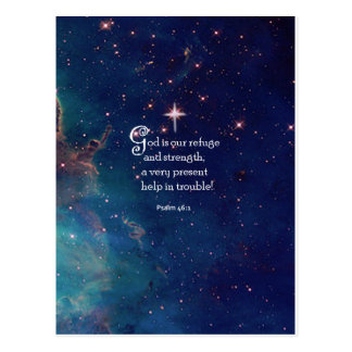 Psalm 46:1 postcard