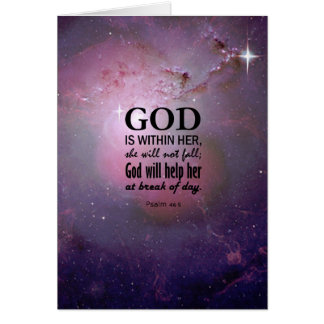 Psalm 46:5 greeting card