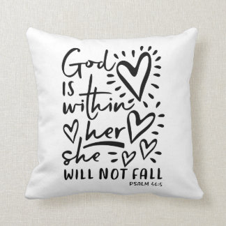 Psalm 46 Bible Verse Throw Pillow