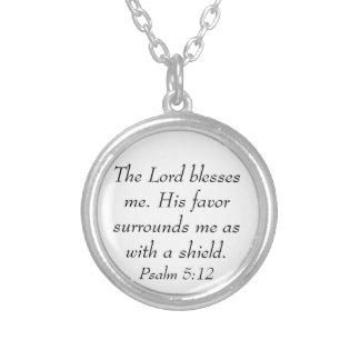 Psalm 5:12 bible verse encouragement necklace