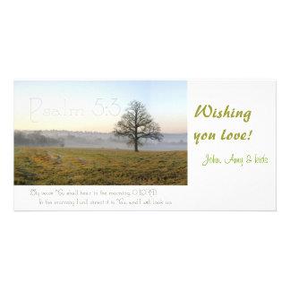 Psalm 5:3 Scripture photocard Card