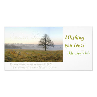 Psalm 5:3 Scripture photocard Custom Photo Card