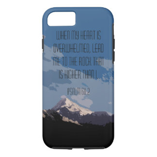 Psalm 61:2 Bible Verse Mountain Graphic iPhone 7 Case