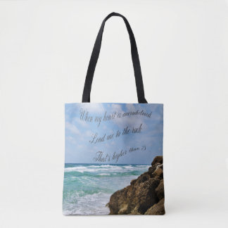 Psalm 61 tote bag