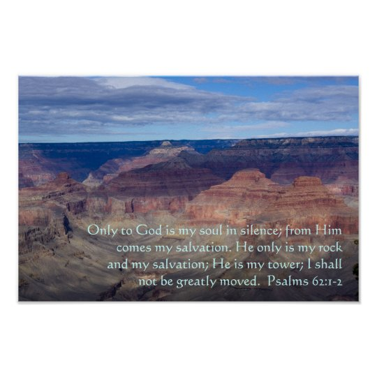 Psalm 62:1-2 Poster