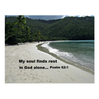 Psalm 62:1 postcard