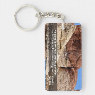 Psalm 62:2 Acrylic Keychain