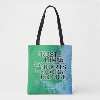 Psalm 62:8 Brush Stroke Tote Bag