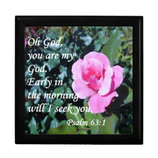 Psalm 63 large square gift box