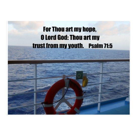 Psalm 71:5 postcard