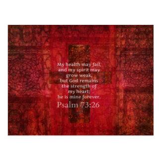 Psalm 73:26 Inspirational BIBLE verse Postcard