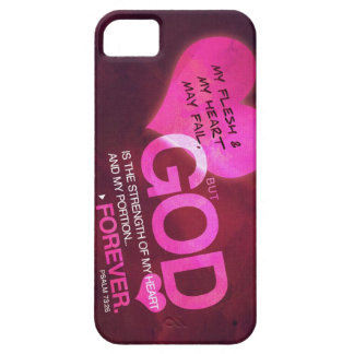 Psalm 73:26 - Pink (iPhone 5) iPhone 5 Cases