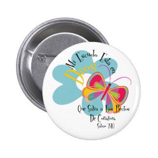 Psalm 7:10 6 cm round badge