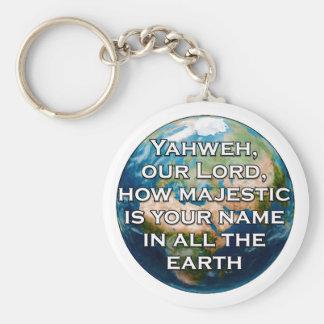 Psalm 8:1 Keychain