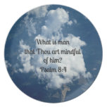 Psalm 8:4 plate