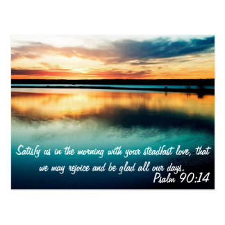 Psalm 90:14 postcard